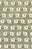Wall from dollars, a background for design.  Stock Image