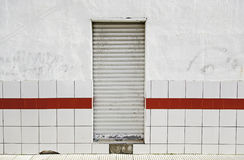 Wall with door closed Royalty Free Stock Images