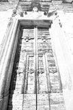 wall door in italy land europe architecture and wood the histori Royalty Free Stock Images