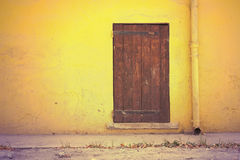 Wall and door in retro style Stock Images