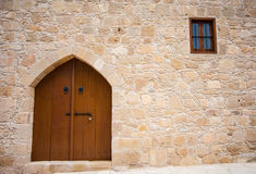 Wall with door and window Royalty Free Stock Photos