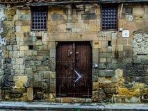 Wall, Door, Window, Facade Royalty Free Stock Images