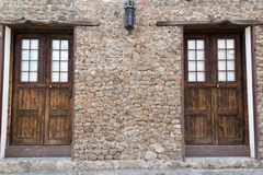Wall and doors Royalty Free Stock Photography