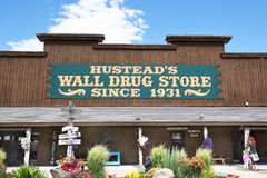 Wall Drug Store. WALL, SOUTH DAKOTA - JUNE 22, 2017: Hustead`s Wall Drug. The tourist attraction has grown to be a favorite stop for travelers along Interstate stock photos