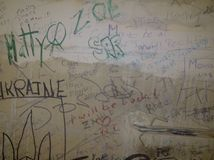 Wall of drunk memories. Sigh ur name on the wall and drink a sip Royalty Free Stock Photography