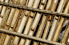 WALL AND DRY BAMBOO BARRIER royalty free stock image