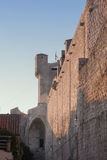 Wall of Dubrovnik. Wall and tower of Dubrovnik's city Stock Photos