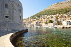 Wall of Dubrovnik town Royalty Free Stock Photo