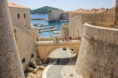 Wall  Dubrovnik Stock Photography