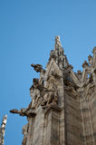Wall of duomo Cathedral. In milano Stock Image