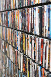 Wall of DVD Royalty Free Stock Photo