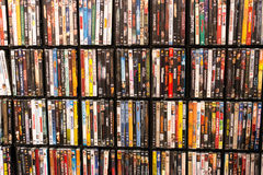 Wall of DVD Royalty Free Stock Images