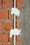 Wall electric wiring detail royalty free stock photos