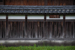Wall Elevation of Japanese Traditional Architecture Royalty Free Stock Image