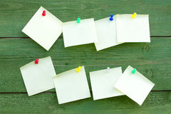 Wall with empty memo sticks Royalty Free Stock Photo