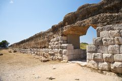 Wall of Empuries ancient city Royalty Free Stock Photo