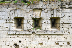 Wall at the entrance to the fortress Kerch Stock Image