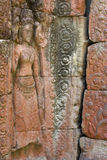 Wall Etching, Angkor Stock Photography