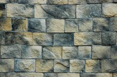Wall faced with stone Royalty Free Stock Image