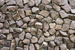 Wall faced with stone Royalty Free Stock Photo