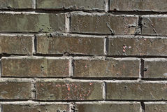 Wall from a facing gray brick Stock Photos