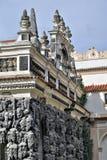 Wall of fake stalactites in Wallenstein Gardens / Wallenstein Palace. In Prague, Czech Republic royalty free stock photo