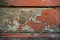 Wall with fallen off plaster royalty free stock photos