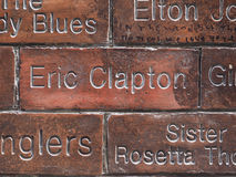 Wall of Fame in Liverpool Royalty Free Stock Images