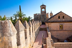 Wall of famous Alcazar in Cordoba,  Andalusia. Spain. Stock Photo