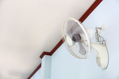 A wall fan with a pull cord switch Stock Image