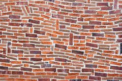Wall with fantasy brickwork Royalty Free Stock Photography