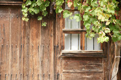 Wall of the farmhouse - 3. Wall of the old country house in the mountains of Bulgaria Stock Image