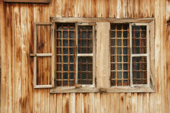 Wall of the farmhouse - 4. Wall of the old country house in the mountains of Bulgaria Royalty Free Stock Photo