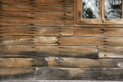 Wall of the farmhouse. Wall of the old country house in the mountains of Bulgaria Royalty Free Stock Photography