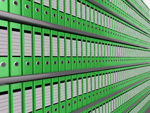 Wall of files Stock Image