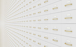 Wall of filing cabinets Stock Photos