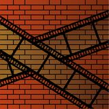 Wall and film strip Royalty Free Stock Image