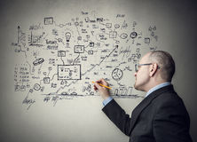Wall of finance Stock Photography
