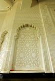 Wall fininsh with geometric pattern at Sultan Ismail Airport Mosque - Senai Airport Stock Image
