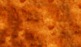 Wall of Fire. Close view of gas flare Royalty Free Stock Photos