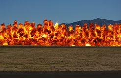 Wall of Fire Stock Photos
