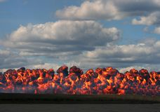 Wall of Fire Stock Photography