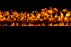 Wall of fire Royalty Free Stock Image