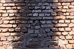 Wall after the fire Royalty Free Stock Photography