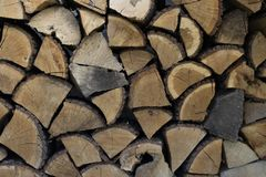 Wall firewood, Background of dry chopped firewood logs stock images
