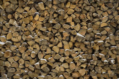 Wall firewood , background of dry chopped logs in a pile Royalty Free Stock Photography