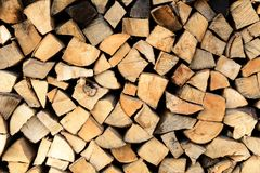 Stack of firewoods Stock Image