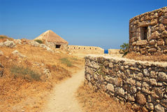 Wall in Firka fortress. At sun day, Crete Stock Image