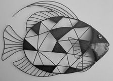 Wall Fish Art In Grey. stock images
