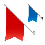 Wall flags Stock Photo